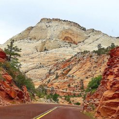 Slickrock formations on the east side of Zion National Park appear very different from Zion Canyon, which most tourists visit. (Fran Davis/Craigslegztravels.com)