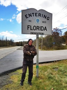 The oddly named town of Florida, Mass., was chilly and lacking in colorful foliage. (Fran Davis/CraigslegzTravels.com)