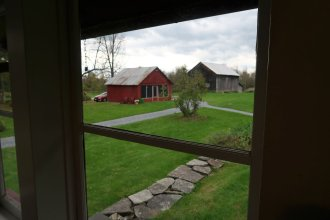 Looking out of the Robert Frost Stone House Museum in Shaftsbury, Vt. (Craig Davis/CraigslegzTravels.com)