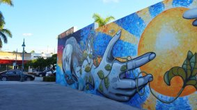 Faces of various moods bring the Hollywood (Fla.) Downtown Mural Project to live. (Craig Davis/CraigslegzTravels.com)