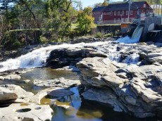 The Falls and Potholes is a distinctive feature at Shelburne Falls, Mass., on the Mohawk Trail. (Fran Davis/CraigslegzTravels.com)