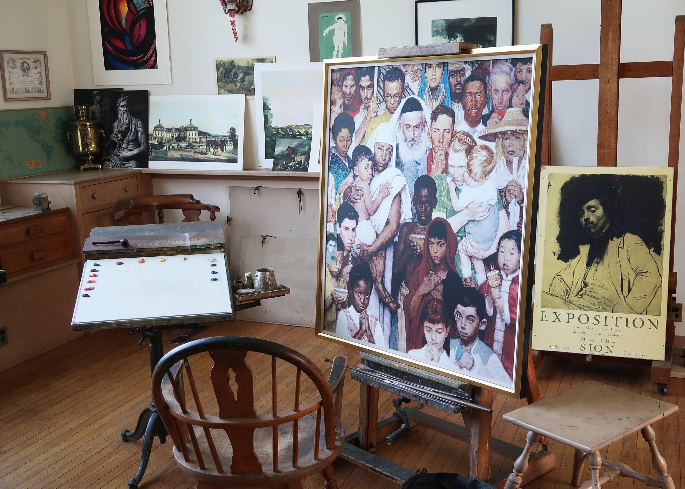 Norman Rockwell's studio in Stockbridge, Mass., where he lived for 25 years. (Craig Davis/Craigslegztravels.com)