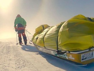 Colin O'Brady pulled his supply sled more than 900 miles to become the first to cross Antarctica unaided. (Colin O'Brady/Instagram)