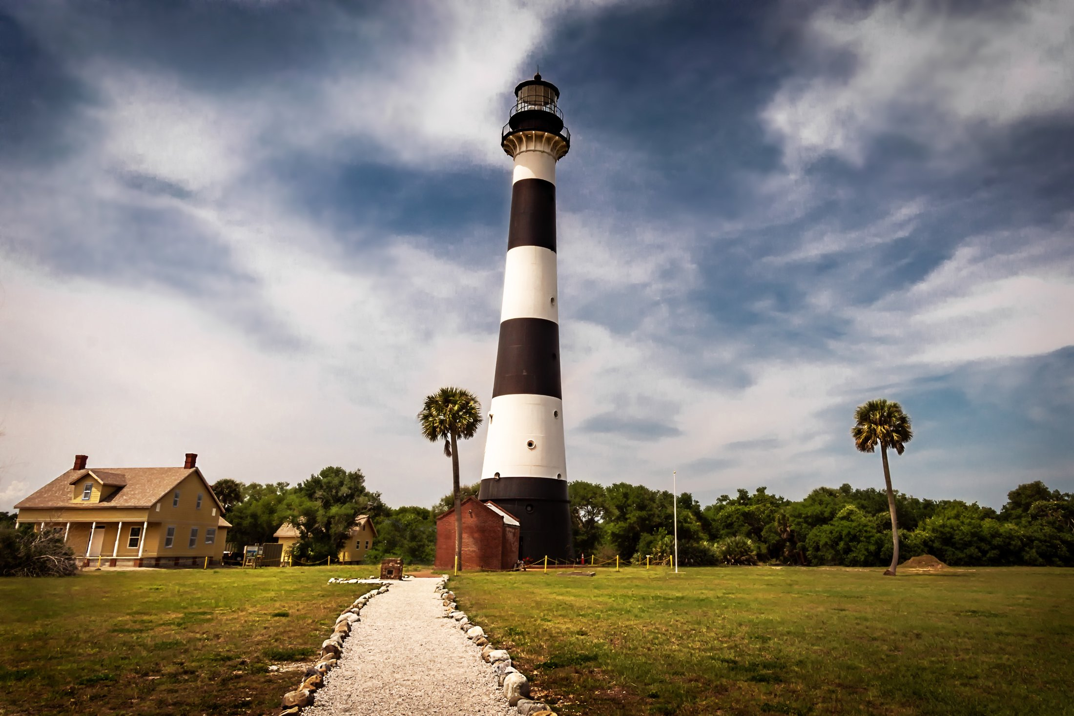 The vintage lighthouse is open to small-group tours at Cape Canaveral Air Force Station. (Glenn Davis/Craigslegztravels.com)