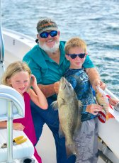 Bouncer Smith has introduced many kids to fishing, including his own grand niece and nephew. (Courtesy Bouncer Smith)