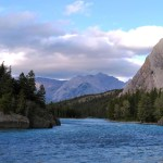 The Bow River runs through the edge of the town of Banff. (Craig Davis/craigslegztravels.com)