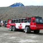 The 27-ton all-terrain Ice Explorers have been ferrying tourists to Athabasca Glacier since 1951. (Craig Davis/craigslegztravels.com)