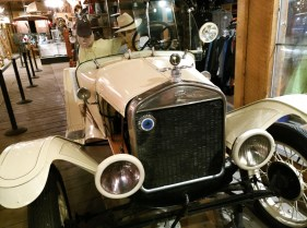 A 1921 Model T Ford is stationed inside the front window of the Frisco Emporium in Frisco, Colo. (Craig Davis/Craigslegztravels.com)
