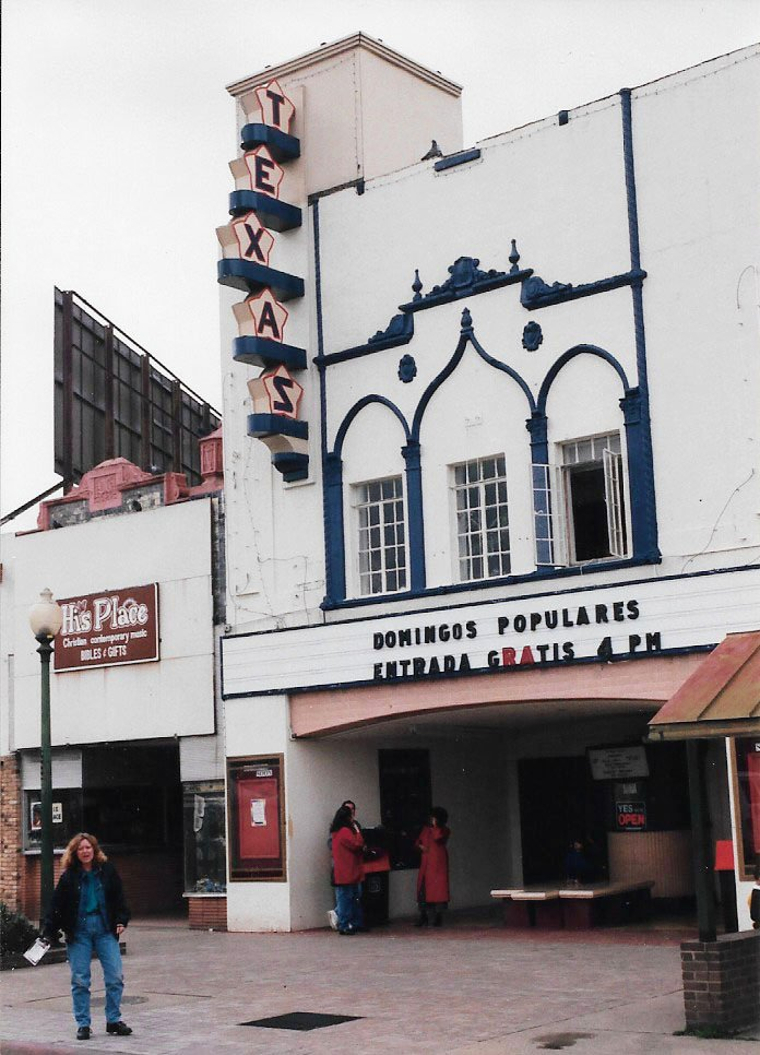 The Texas Theatre was being used as a community theater but since 2010 has operated as an independent and repertory cinema. (Craig Davis/craigslegztravels.com)