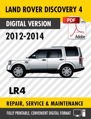 2012  2014 LAND ROVER DISCOVERY 4 LR4 FACTORY REPAIR