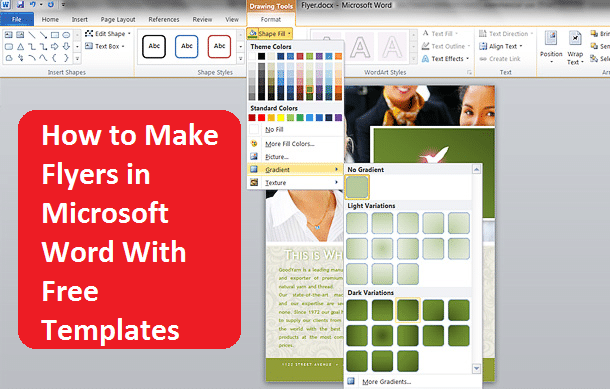 how to make a flyer in word with tear off tabs