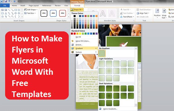 flyer free template microsoft word