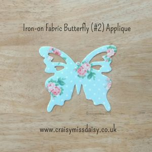 craisymissdaisy iron on fabric butterfly 2 applique