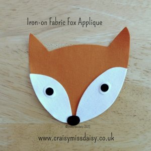 craisymissdaisy iron on fabric fox applique