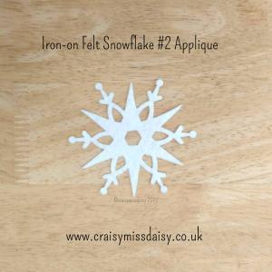 craisymissdaisy iron on felt snowflake #2