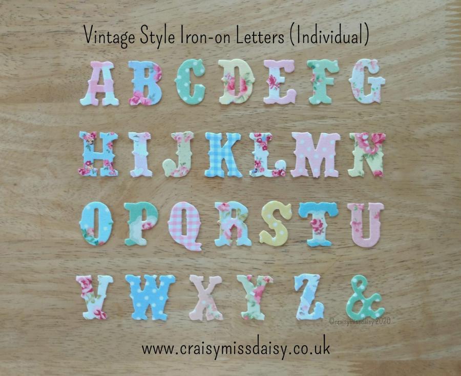 craisymissdaisy-Vintage-Style-Iron-on-individual letters