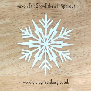 craisymissdaisy iron on felt snowflake #11