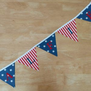 traditional bunting medium lettered flags