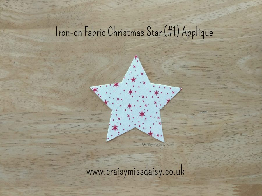 craisymissdaisy iron on fabric christmas star 1