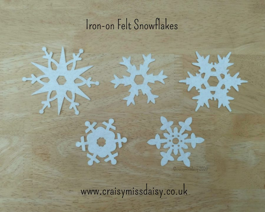 craisymissdaisy iron on felt snowflakes