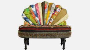 Nordals bench peacock design