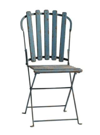 Trädgårdsstol vintage blå Nordal