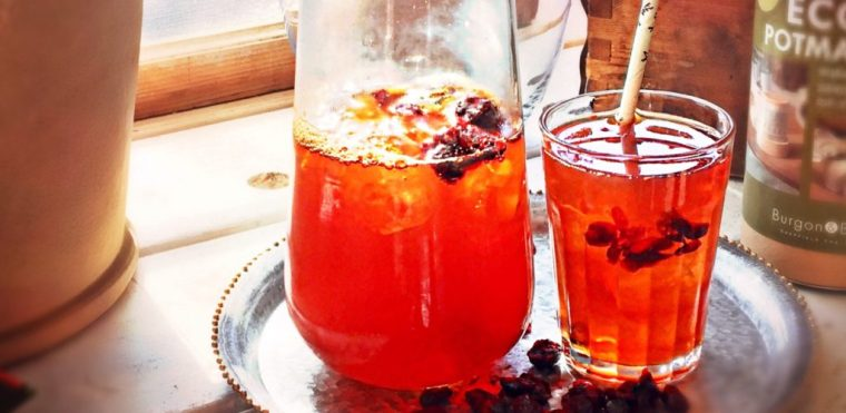 rooiboste med tranbär iste med rooisboste