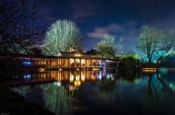 Water lily lake. Luminaries Woburnensis (Lantern walk). Woburn Abbey. December 2013. By Jaime García.