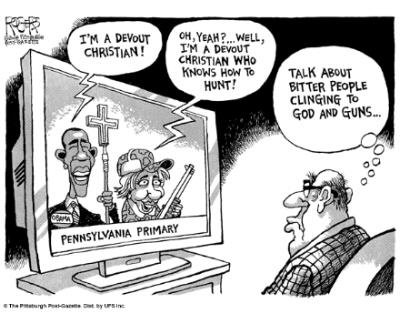 Obama Clinton toting bibles and guns
