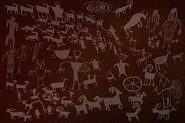 Zeichen auf wand, Mythologie