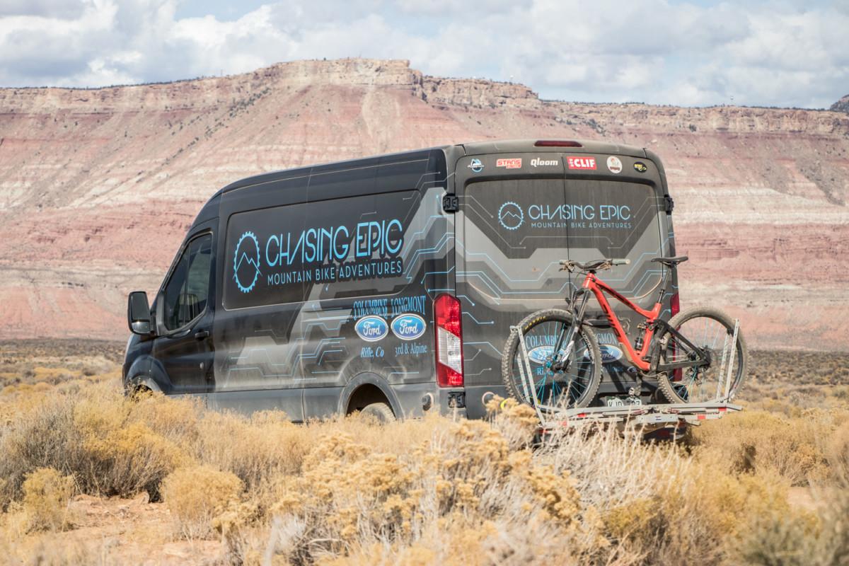 Inside Chasing Epic MTB Adventure's Ford Transit Van