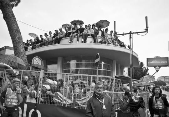 The Tifosi await