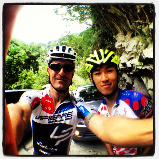 me & Yin Chi, top Asian at last year's KOM Challenge
