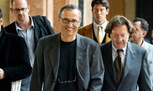 Dr Michele Ferrari, centre, was, according to Usada, in charge of supervising blood transfusions