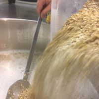 Into the mash tun