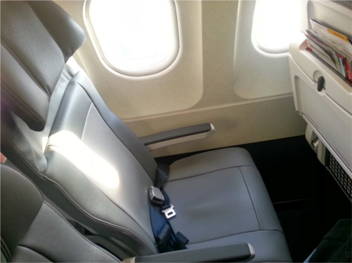 United A320 Seat Side View