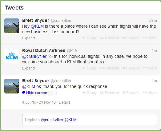 KLM Conversation