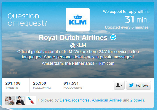 KLM Response Time