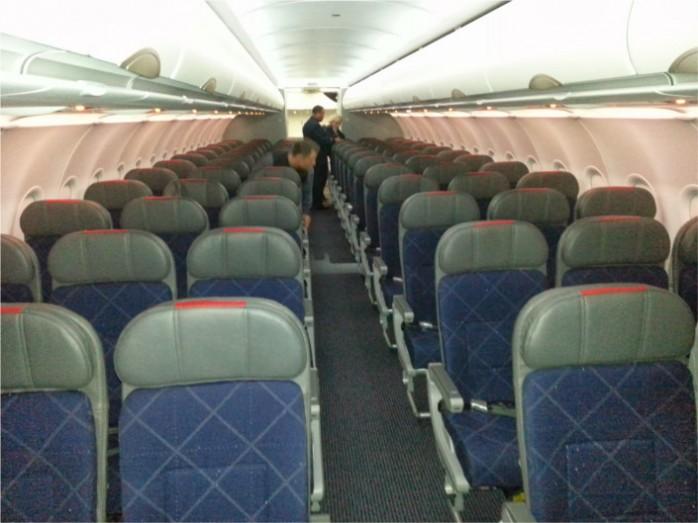 American's A321 Coach Cabin