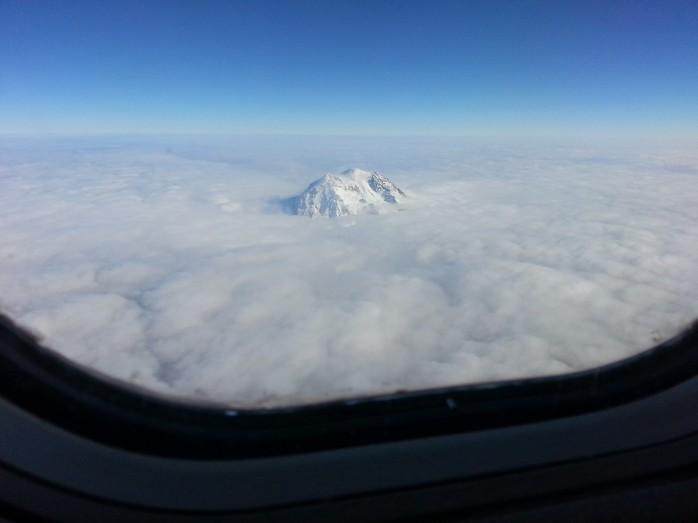 Mountain Peeking Through the Clouds