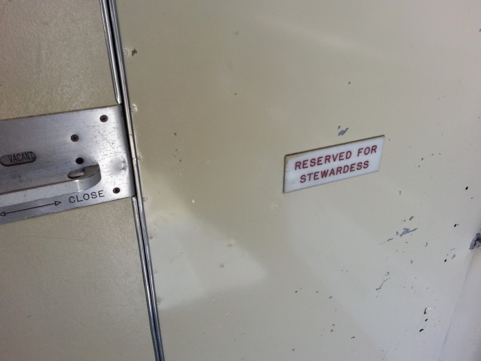 Reserved for Stewardess