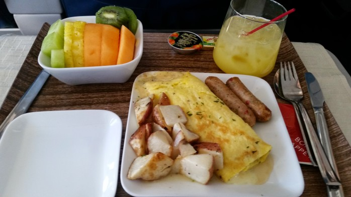 Delta First Class Breakfast
