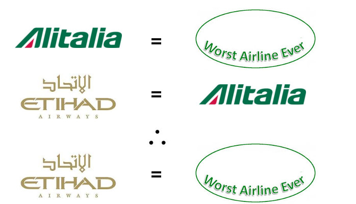 Etihad Worst Airline Ever Alitalia