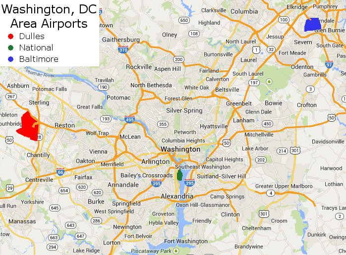 Washington DC Metro Area Airports