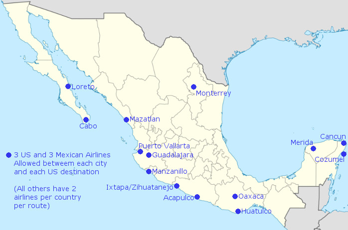More US – Mexico Flights May Be Coming Soon Thanks to Loosening of ...