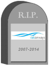 RAK Airways Tombstone