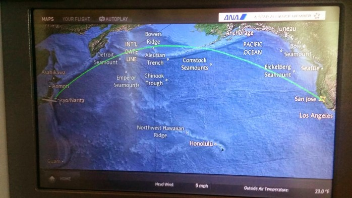 ANA Flight Path SJC NRT
