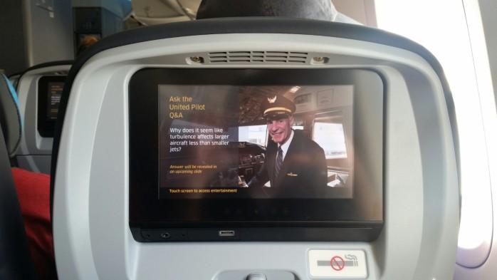 United 787 IFE