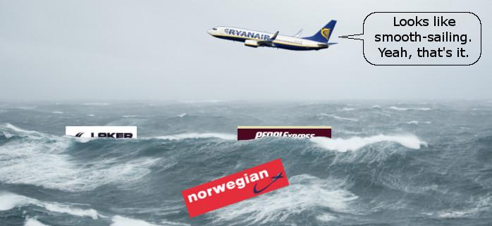 Atlantic Low Cost Carrier Stormy Seas