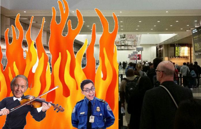 Fiddle While TSA Burns